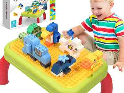Amazon: Building Block Table for Toddler, 80+ PCS, Just $17.99 (Reg $49.99) after code!