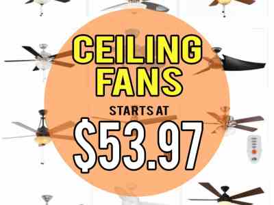 Home Depot: Ceiling Fans, up to 60% off!