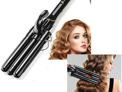 Amazon: Hair Curling Iron 3 Barrel 22mm with LCD Temperature Display for $26.64 (Reg. Price $40.99) after code!