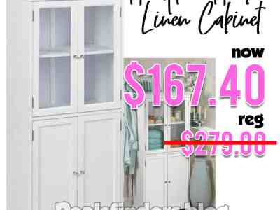 Home Depot: Hampton Harbor Linen Cabinet, Just $167.40 (Reg $279.00)