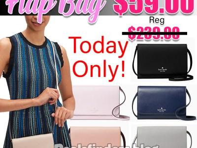 Kate Spade: Kerri small flap wallet on a string, Just $59.00 (Reg. $239.00)