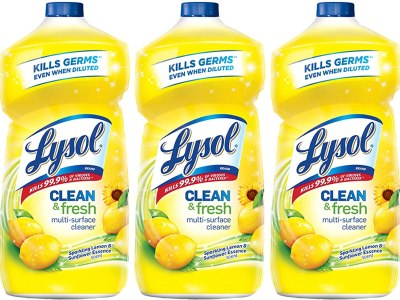 Amazon: Lysol Clean and Fresh Multi-Surface Cleaner, Lemon and Sunflower, 40 Ounce, Pack of 3 for $7.41 (Reg. Price $9.99)