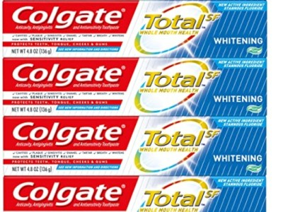 Amazon: Pack of 4 Colgate Total Whitening Toothpaste Gel, Whitening Mint for $8.98 (Reg. Price $16.98) with coupon!
