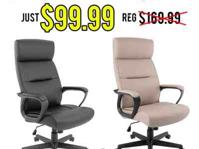Staples: Rutherford Luxura Manager Chair, Just $99.99 (Reg $169.99)