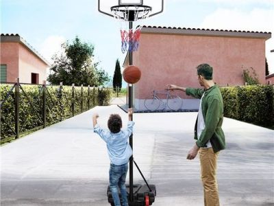 Walmart: SmileMart Portable 6.4-8.2 ft Height Adjustable Basketball Hoop, Just $53.99 (Reg $100.00)