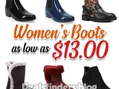 Kohl's: Women's Boots, as low as $13 only, with a code!