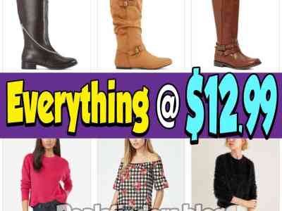 Zulily: Apparel and Footwear, everything at $12.99 Only!
