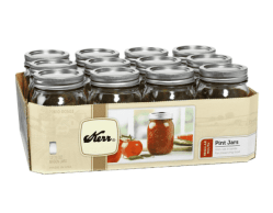 Walmart: Kerr, Glass Mason Jars with Lids & Bands $8.98 (Reg. $10.98)