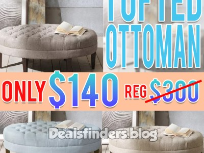 Kohl's: Tufted Ottoman, for only $140 (Reg $300) with CODE!