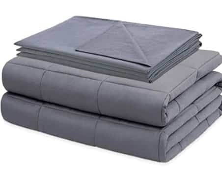 Amazon: 15Lbs Queen Size Weighted Blanket with Cotton Cover for $29.99 (Reg. Price $59.99)