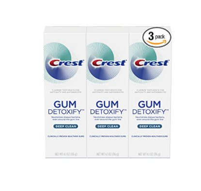 Amazon: 3 Pack 4.1oz Crest Toothpaste Gum Detoxify Deep Clean for $9.99 (Reg. Price $14.99) after clip coupon!