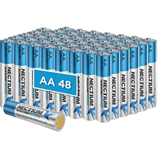 Amazon: 48 Count AA Alkaline Batteries for $14.99 (Reg. Price $24.99) after code!
