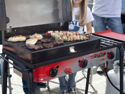 Walmart: Camp Chef Big Gas Grill 3-Burner Outdoor Stove with BBQ Box Accessory, Just $298.00 (Reg $434.99)