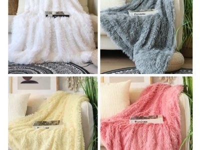 Amazon: Faux Fur Shaggy Blanket for $13.29-$27.99 (Reg. Price $18.99-$39.99)