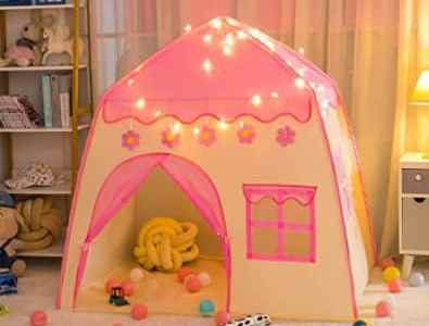 Amazon: Girls Princess Play Tent with Star Lights for $19.99 (Reg. Price $39.99) after code!