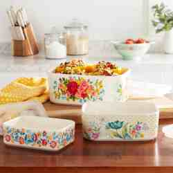 Walmart: The Pioneer Woman Sweet Rose 6-Piece Rectangle Ceramic Nesting Bowl Set for ONLY $19.98 (Reg. $29.99)