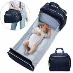 Amazon: Baby Diaper Bag Backpack w/ Crib $19.99