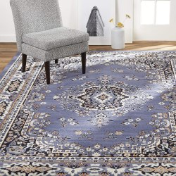 "Amazon: Medallion Border Area Rug, Country Blue, 5'2""x7'4"" Rectangle for only $32.36 (Reg: $109.99)"