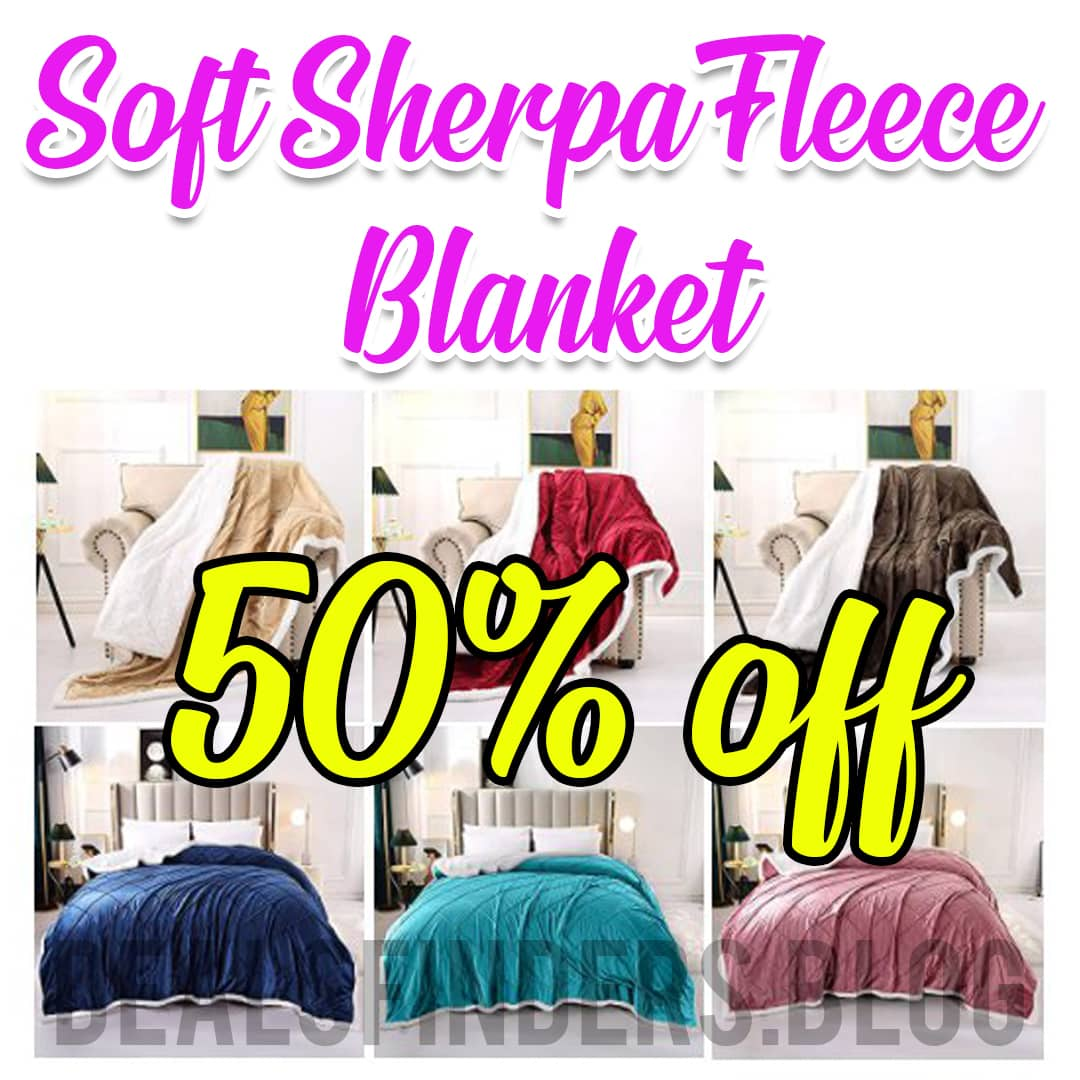 Amazon: Soft Sherpa Fleece Blanket for for $11.19-$27.99 (Reg. Price $22.39-$55.99) at checkout!