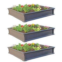 Walmart: Lifetime 4' x 4' Raised Garden Kit (3 Beds) $139.98