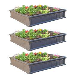Walmart: Lifetime 4' x 4' Raised Garden Kit (3 Beds) $139.98