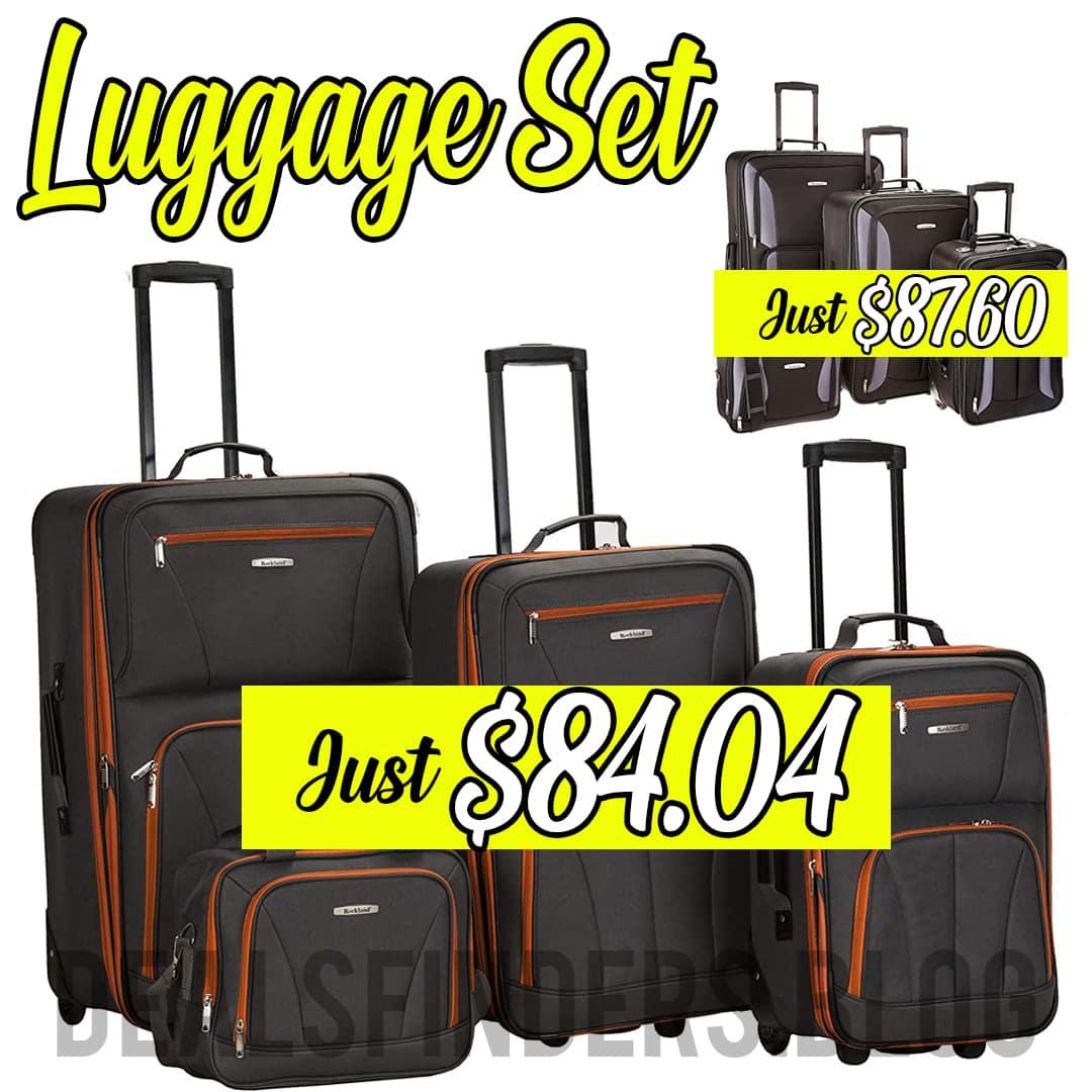 Amazon: Rockland Journey Softside Upright Luggage Set, 62% off!
