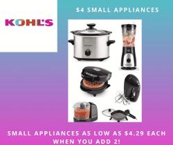 Kohl's - $4 Small Appliances