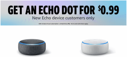 Echo Dot Only 99¢ with Amazon Music Unlimited!