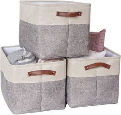 Amazon: 3-Pack Large Foldable Storage Bin for ONLY $9.99 w/code (Reg. $19.99)