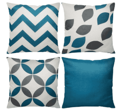 Amazon: Pillow Covers Set of 4 Modern Geometric for $7.99 (Reg. $15.98)