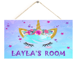 Amazon: Wall Decoration Personalized Customization Unicorn Sign for $5.99 w/code (Reg. $19.99)