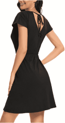 Amazon: Women Casual Swing V-Shaped on Back Dresses for ONLY $11.99 (Reg. $23.99)
