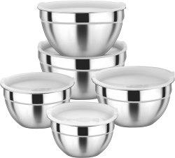 Amazon: Stainless Steel Mixing Bowls Set $12.99 (Reg. $25.99)