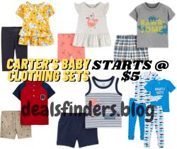 Walmart: Carter's Baby Clothing Sets Starts at $5