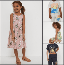H&M Girl's Patterned Jersey Dresses & Boy's Jersey Shorts for just $4.49 shipped!