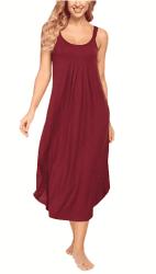 Amazon: Women's Long  Sleeveless Chemise Pajama Dress for FREE