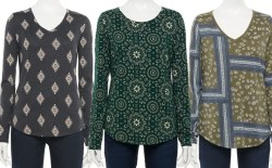 Kohl's: Women's Long Sleeve Tees $2.72 + FREE Pickup!