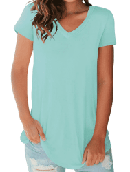 Amazon: Women's Tees V Neck T-Shirts $5 (Reg $25)