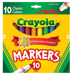 Staples: Crayola Products On Sale from $0.50