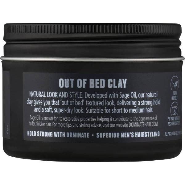 Dominate Hair Men Styling Clay Out Of Bed 100g