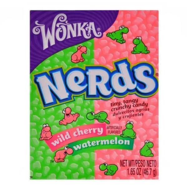 Wonka Nerds Wild Cherry and Watermelon Box 46.7g X 36 Boxes
