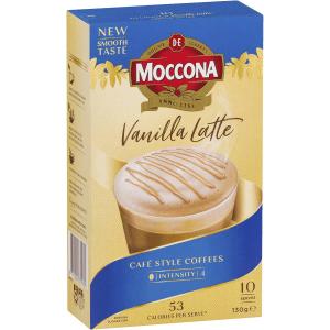 Moccona Coffee Vanilla Latte Sachets 10 Pack