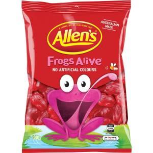 Allens Frogs Alive Lollies Bag 190g