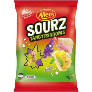 Allens Sourz Tangy Randoms Lollies Bag 170g