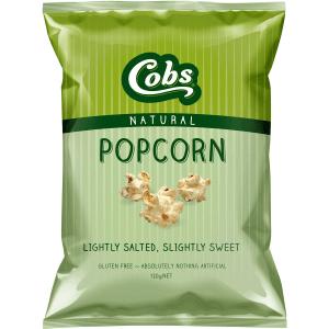 Cobs Popcorn Lightly Salted Slightly Sweet Gluten Free 100g