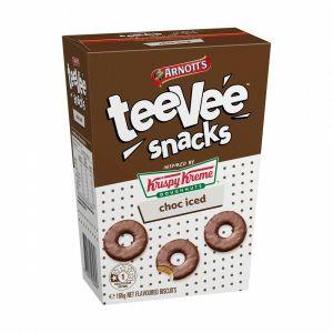 Arnotts TeeVee Snacks Krispy Kreme Biscuits Choc Iced 165g