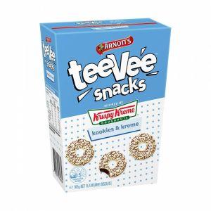 Arnotts TeeVee Snacks Krispy Kreme Biscuits Kookies and Kreme 165g