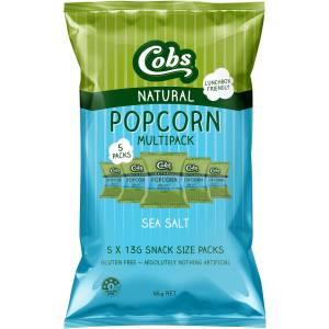Cobs Natural Popcorn Sea Salt Multipack 5 Pack