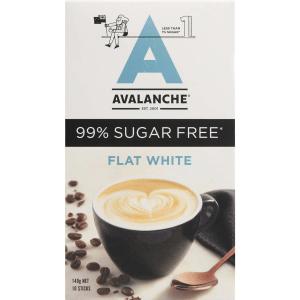 Avalanche Sugar Free Coffee Flat White Sachets 10 Pack