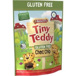 Arnotts Tiny Teddy Gluten Free Chocolate Choc Chip Biscuits 120g